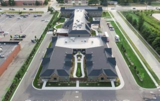 Oakleigh Macomb Senior Living aerial view