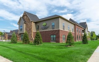 Oakleigh Macomb Senior Living front lawn