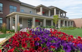 Oakleigh Macomb Senior Living close up of flower bed