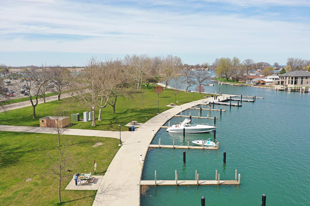Boat dock in Macomb Michigan